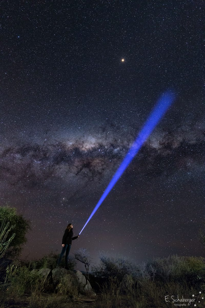Flashlight-Milky-Way